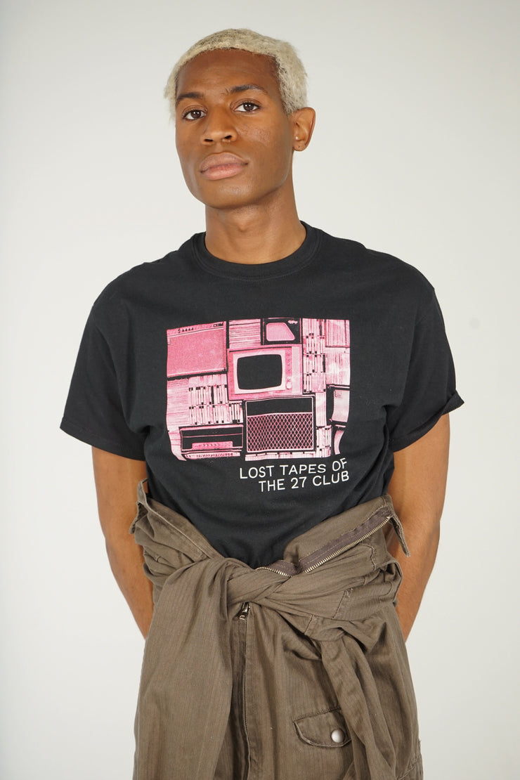Lost Tapes Pink TV T-Shirt (Black)