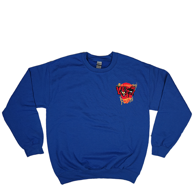 LOST YOUTH FACADE Crewneck (Royal Blue)
