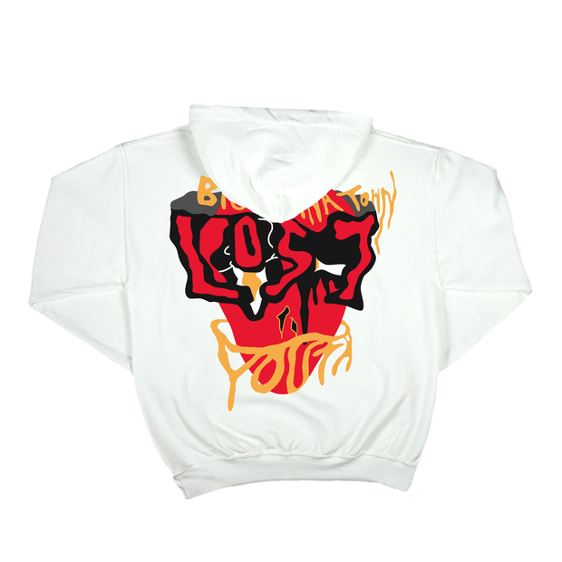 LOST YOUTH FACADE Hoodie (White)