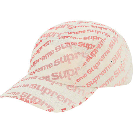 Radial Camp Cap (Natural/Red)