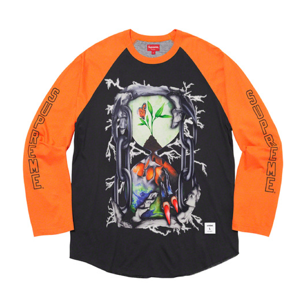 Hourglass Raglan Long Sleeve T-Shirt (Orange)