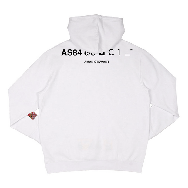 LIMITED EDITION // Big Poppa Drop Shoulder Hoodie (White)