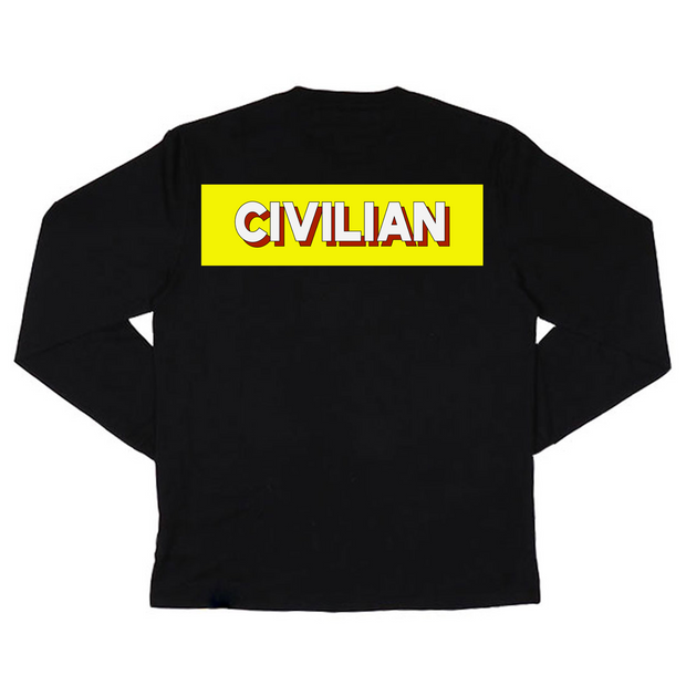 Civilian Long Sleeve T-Shirt (Black)