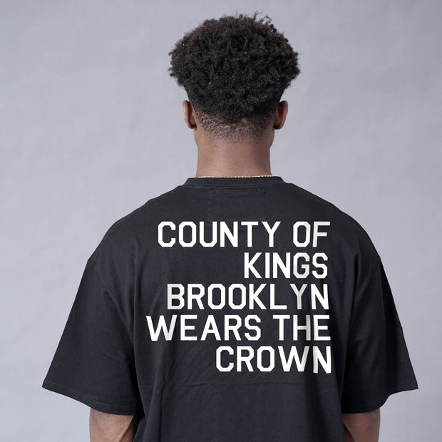 County of Kings Drop Shoulder T-Shirt (Black)