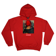 Bombin' The Mona Lisa Hoodie (Red)