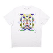 Kaleidoscope Ray T-Shirt (White/Yellow)
