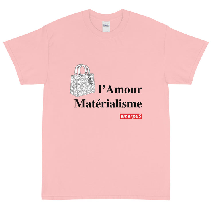 l'Amour Materialisme T Shirt (Pink)
