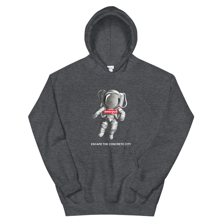 Escape the Concrete City Hoodie (Dark Heather)