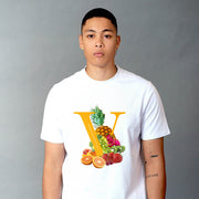 "Orange ""V"" T-Shirt (White)"