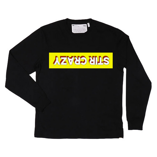 Stir Crazy Long Sleeve T-Shirt (Black)