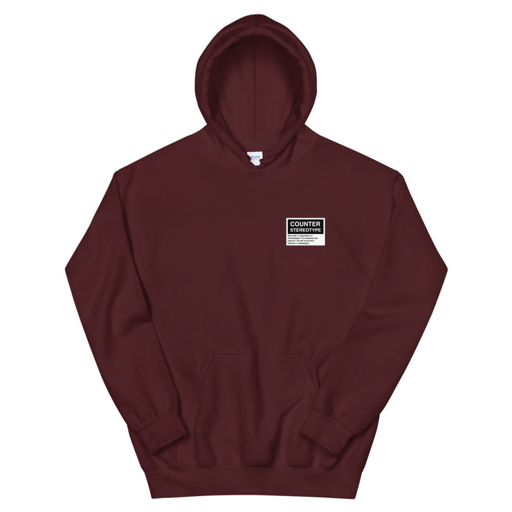 Counter Stereotype Burgundy Hoodie