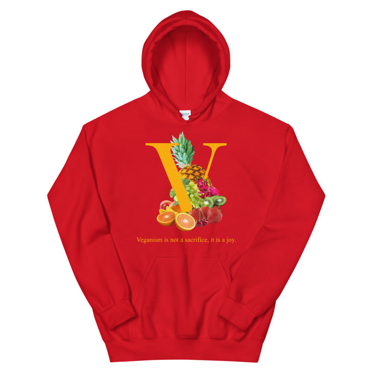 Vegan Orange Fruit Hoodie (Red)