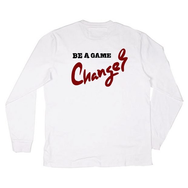 Tic Tac Toe Game Changer Long Sleeve(White)