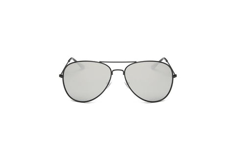 SLIM TRENDY MIRRORED FLAT LENS AVIATOR