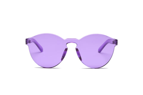 One Piece Mono Block Rimless PC Pantone Purple Lens