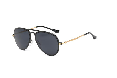 CLASSIC MIRRORED AVIATOR SUNGLASSES GOLD ARMS