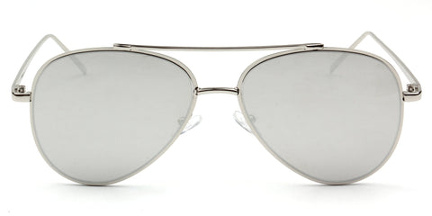 CLASSIC AVIATOR MIRRORED SUNGLASSES SILVER LENS - Unum Sunglasses