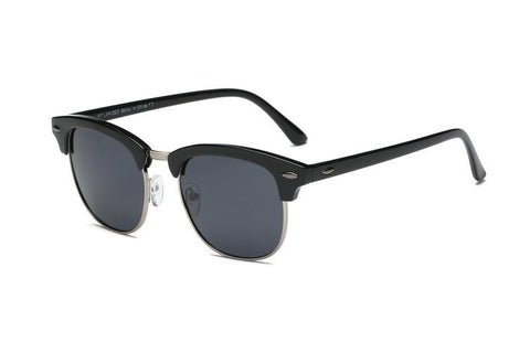 CLUBMASTER BLACK W SILVER POLARIZED - Unum Sunglasses