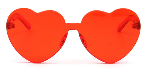 HEART SHAPE COLOR TONE MONOBLOCK RED - Unum Sunglasses