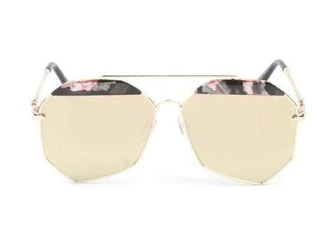 MODERN FLAT LENS POLYGON METAL FRAME SUNGLASSES - Unum Sunglasses