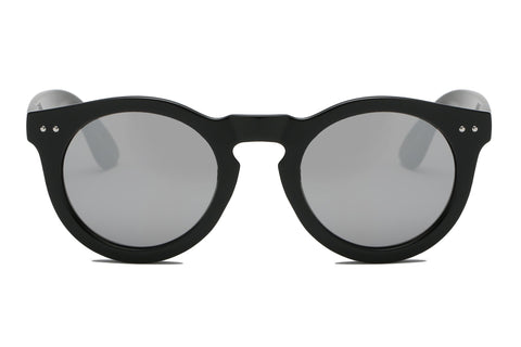 RETRO ROUND BLACK FRAME W GREY LENS - Unum Sunglasses