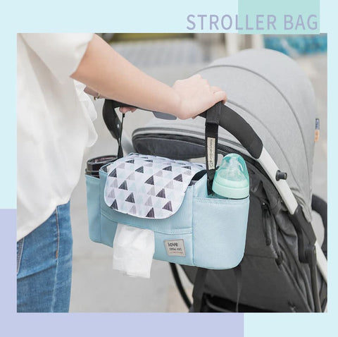 Portable diaper bag, STROLLER BAG ORGANIZER, High Capacity Baby Nappy Bag For Baby Care Essentials For Mom – I BABY CARRIER