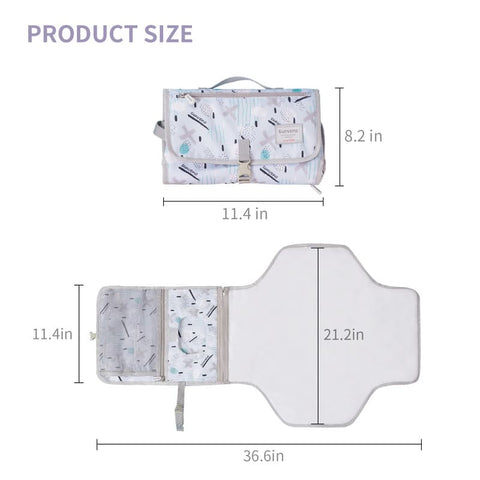 BABY CHANGING PAD, Portable Foldable Washable Waterproof Mattress, BEST CHANGING PAD| I BABY CARRIER