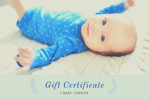 Gift Certificate for the best ergonomic baby infant carrier with hip seat and hoodie - I BABY CARRIER