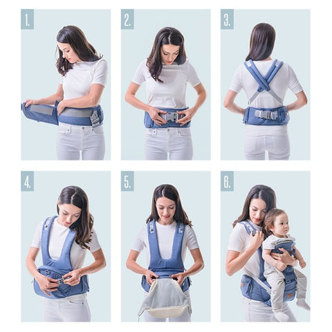 Best ergonomic baby infant toddler hooded carrier with detachable hip seat stool - I BABY CARRIER