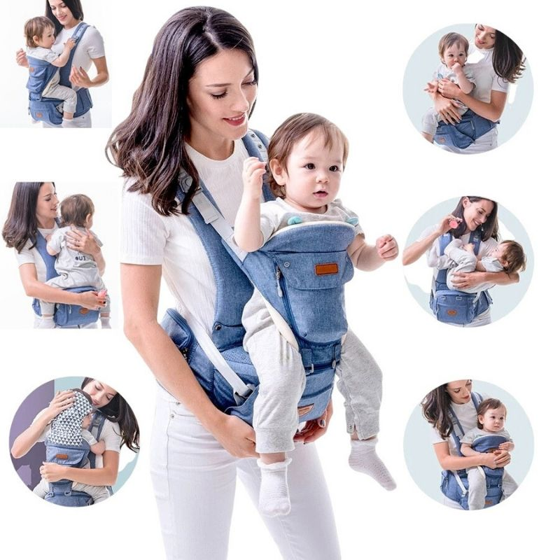 Best 6-in-1 ergonomic baby carrier, BEST TODDLER CARRIER, Baby Carrier with detachable hip waist seat carrier - I BABY CARRIER