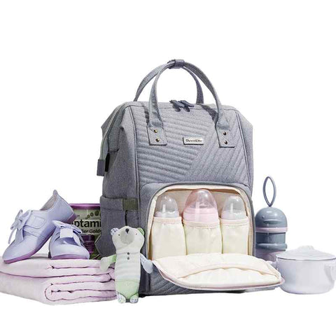 MULTI-FUNCTIONAL BABY DIAPER BAG LARGE CAPACITY TRAVEL BACKPACK - I BABY CARRIER