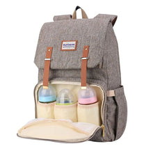 Load image into Gallery viewer, Best Diaper Bag Backpack, The best backpack diaper bag, BEST BACKPACK TO USE AS DIAPER BAG, Diaper backpack for mom and dad, BROWN | I BABY CARRIER