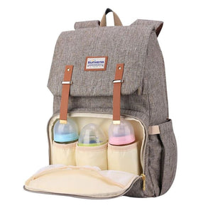 Best Diaper Bag Backpack, The best backpack diaper bag, BEST BACKPACK TO USE AS DIAPER BAG, Diaper backpack for mom and dad, BROWN | I BABY CARRIER