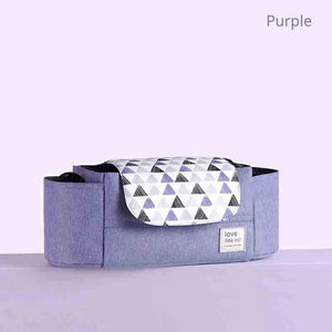Portable diaper bag in purple color – I BABY CARRIER