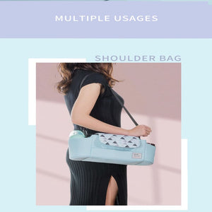 Portable diaper bag being carried as a shoulder bag – I BABY CARRIER