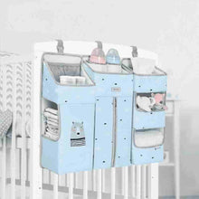 Load image into Gallery viewer, Baby Crib Hanging Storage Nursery Diapers Clothes Bedding Organizer - I BABY CARRIER