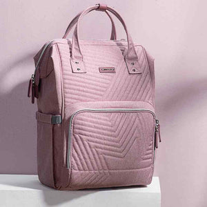BEST MULTI-FUNCTIONAL BABY DIAPER BAG LARGE CAPACITY TRAVEL BACKPACK PINK COLOR - I BABY CARRIER