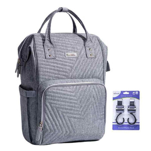 BEST MULTI-FUNCTIONAL BABY DIAPER BAG LARGE CAPACITY TRAVEL BACKPACK GRAY COLOR  - I BABY CARRIER