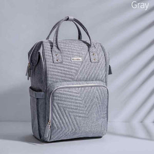 BEST MULTI-FUNCTIONAL BABY DIAPER BAG LARGE CAPACITY TRAVEL BACKPACK GRAY COLOR- I BABY CARRIER