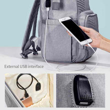 Load image into Gallery viewer, BEST MULTI-FUNCTIONAL BABY DIAPER BAG LARGE CAPACITY TRAVEL BACKPACK with USB Port - I BABY CARRIER