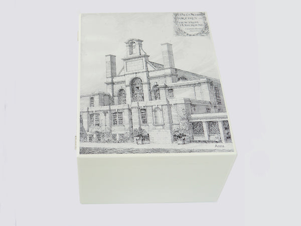 St Paul's Girls' School Memory Wood Box - A4 Chest - Architectural Drawings  - Personalised