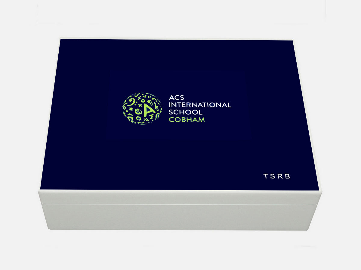 ACS Cobham School Memory Wood Box - A4 Box - Personalised