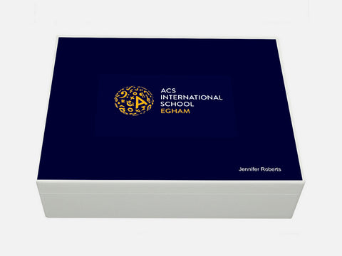 ACS Egham School Memory Wood Box - A4 Box - Personalised