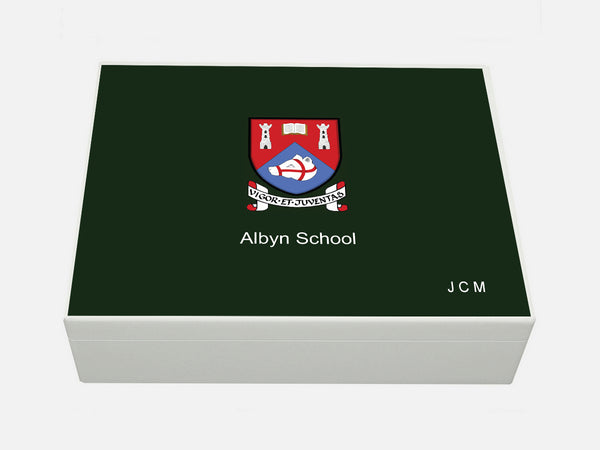 Albyn School Memory Wood Box - A4 box - Personalised