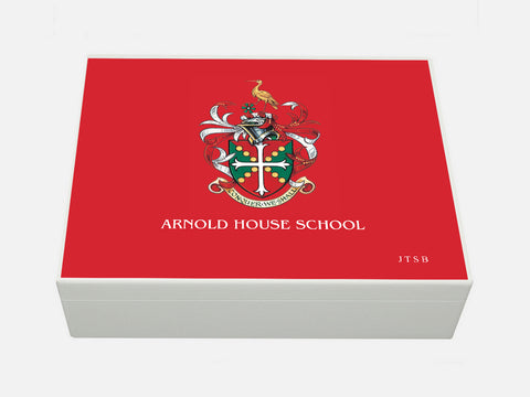 Arnold House School Memory Wood Box - A4 Box - Personalised