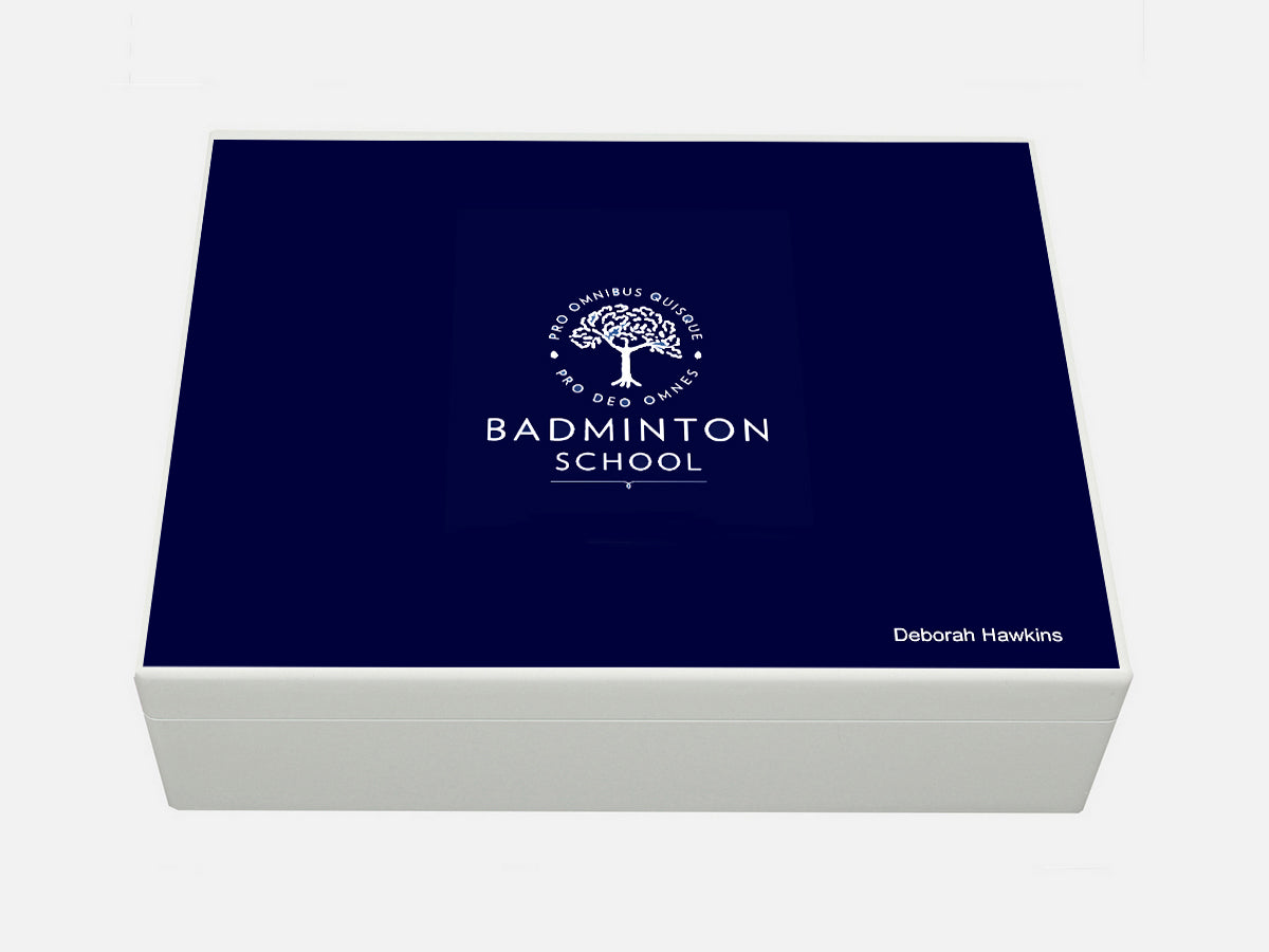 Badminton School Memory Wood Box - A4 Box - Personalised