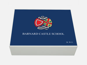Barnard Castle School Memory Wood Box - A4 Box - Personalised