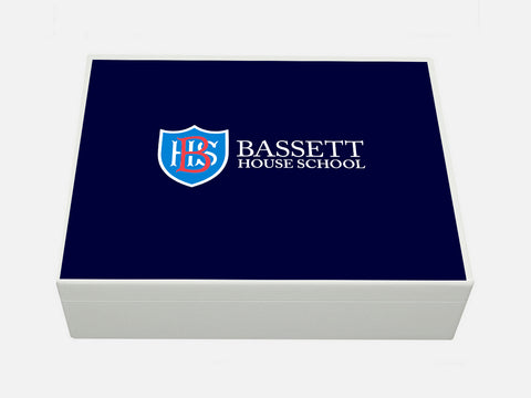Bassett House School Memory Wood Box - A4 Box - Personalised
