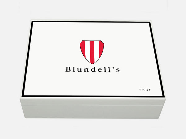 Blundells School Memory Wood Box - A4 Box - personalised