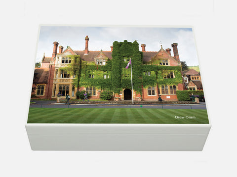 Box Hill School Memory Wood Box - A4 Box  - Personalised